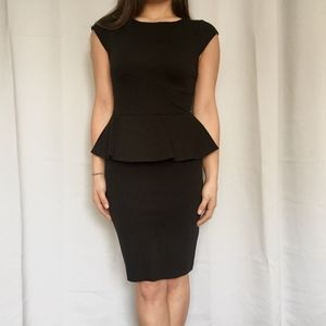 Alice+Olivia Employed Classy Black Peplum Dress